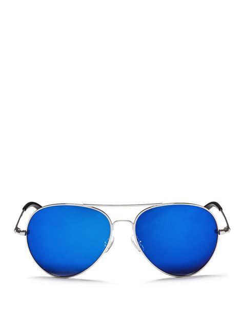 Jimmy Choo Sg Andie Mirror Quality matthew williamson metal aviator sunglasses in metallic lyst