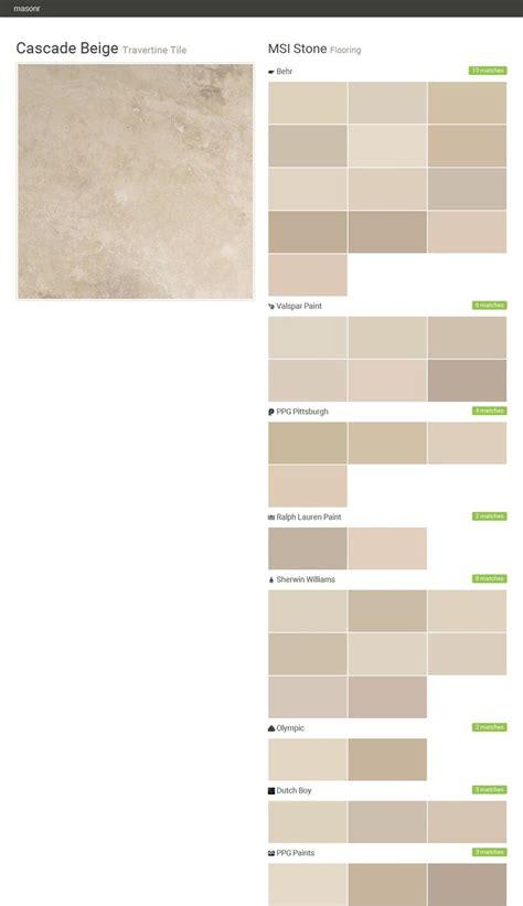 cascade beige travertine tile flooring msi stone behr
