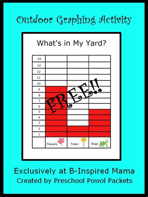 what s in my backyard kids graph printable for outdoor learning b inspired mama