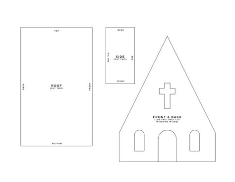 paper church template paper template ideas themes