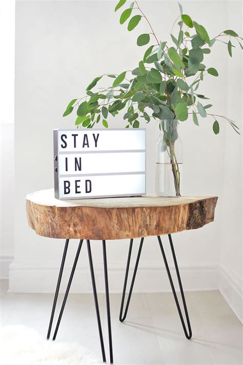 tree slice coffee table diy tree slice hairpin table burkatron