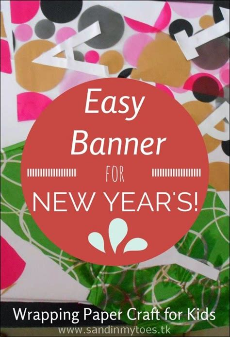 New Year Paper Crafts - busy easy new year s banner crafts crafts