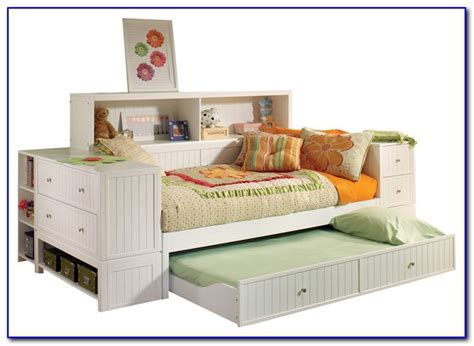 Zayley Full Bookcase Bed In White Bookcase Post Id White Daybed With Bookcase