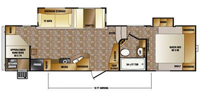 Crossroads Fifth Wheel Floor Plans by 2015 Crossroads Rv Cruiser Aire Fifth Wheel Series M 30 Bh