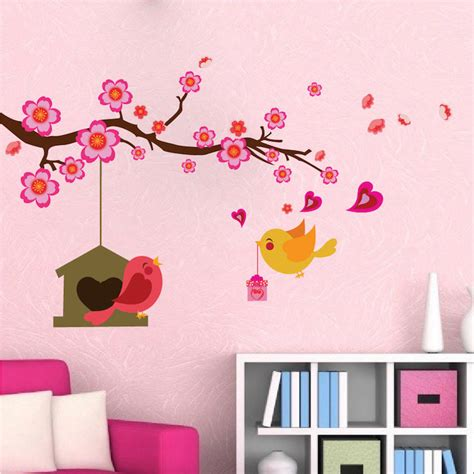 branch wall stickers bird branch wall decal animal wall decal murals primedecals