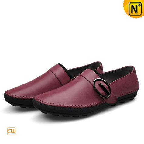 mens leather driving loafers mens leather driving buckle loafers cw740378