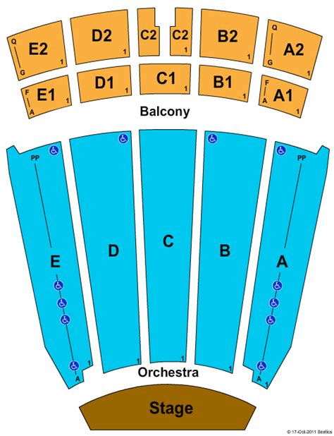 Emens Box Office by Rock Of Ages Tickets Seating Chart Emens Auditorium