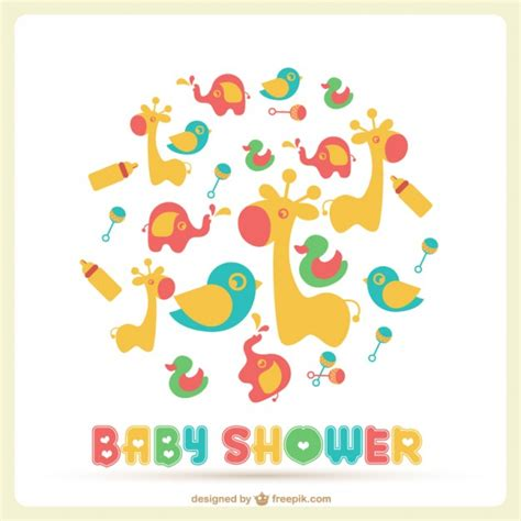 Template Baby Shower Vector | baby shower vector template vector free download