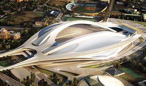 designboom zaha hadid japan zaha hadid wins japan national stadium competition archdaily