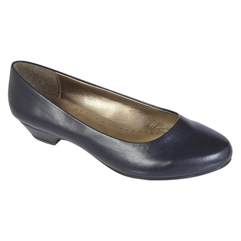 basic editions womens dress shoe renee wide width navy