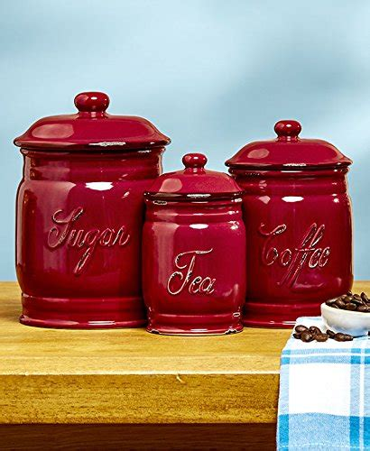 top 5 best kitchen canisters set of 3 red for sale 2017