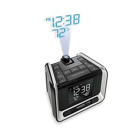 buy homedics 174 sleep station projection weather alarm clock from bed bath beyond