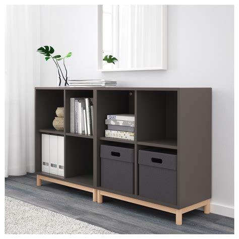 ikea eket eket cabinet combination with legs dark grey 140x35x80 cm