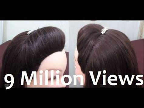 how to make easy puff hairstyles how to make a puff in your hair without hairspray youtube