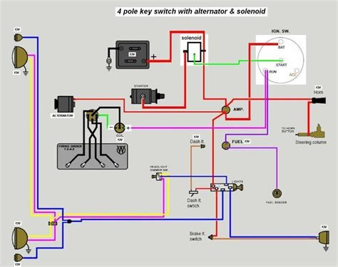 4 wire electrical wiring diagrams 6volt solenoid wiring help the cj2a page forums