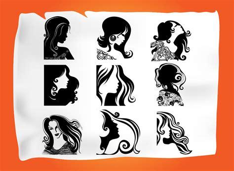 graphics hair design hairdressing vectors