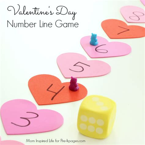 lines for valentines day number line pre k pages