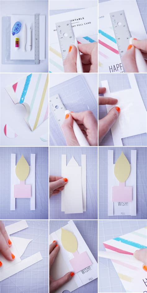 how to make pop up birthday cards step by step printable birthday pull card
