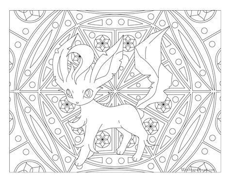pokemon coloring pages of leafeon 470 leafeon pokemon coloring page 183 windingpathsart com