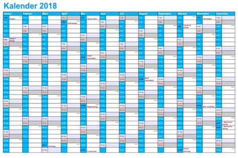 Kalender 2018 Druckversion 2018 Kalender Pdf Word Excel Kalender 2018 Schulferien