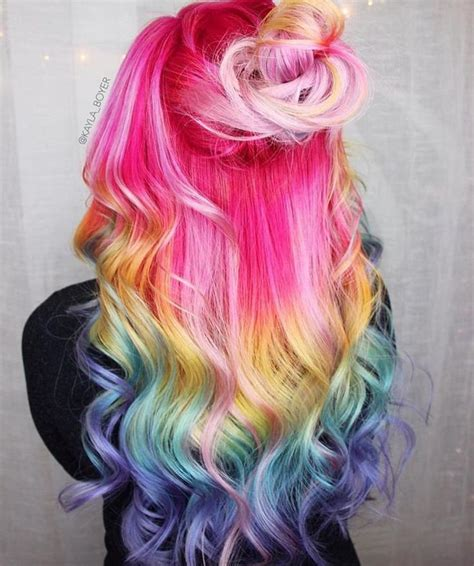 multi colored hair ideas 25 best ideas about multicolored hair on