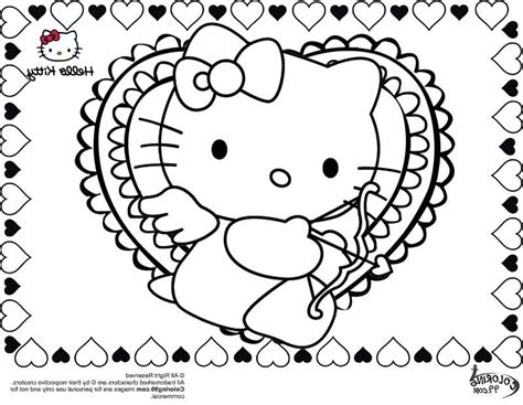 hello kitty coloring pages valentines day hello kitty valentines day coloring pages sesiweb us