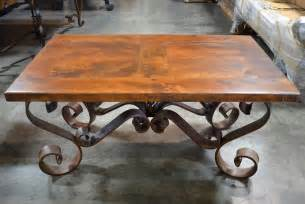 Wrought Iron And Wood Coffee Table Porfirio Coffee Table Wrought Iron Coffee Table Demejico