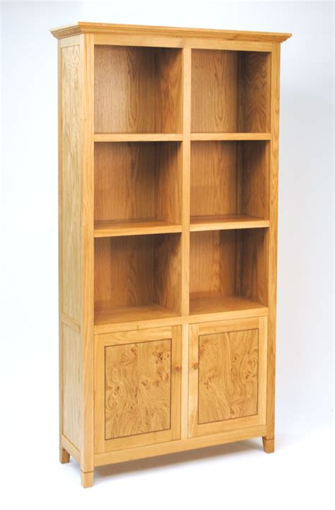 angled bookshelves oak bookcase with doors furniture designs