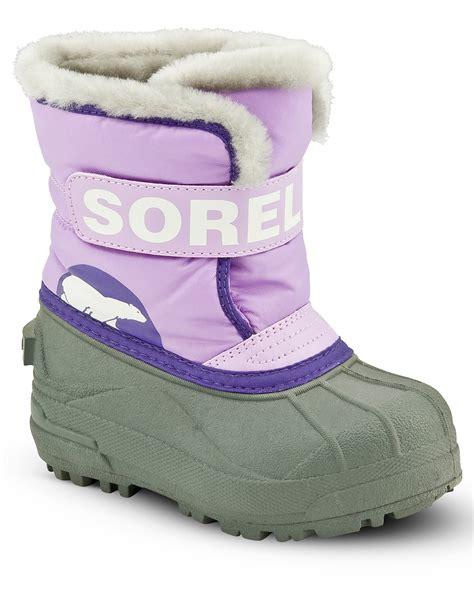 infant size 4 snow boots sorel infant snow commander boots sizes 4 7