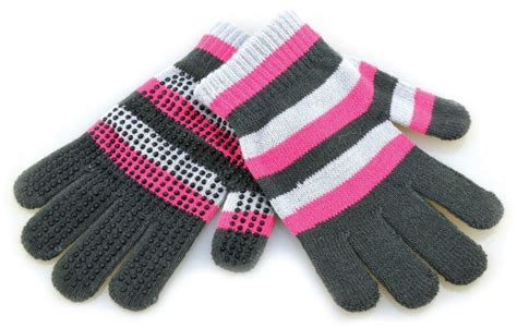 Striped Gloves hy5 striped magic gloves pink stripe