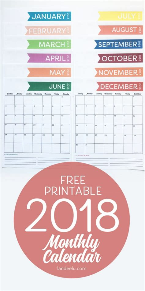 2018 free printable monthly calendar on sutton place 2018 free monthly calendar printable landeelu com