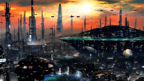 wallpaper abyss sci fi galactic city hall full hd wallpaper and background image