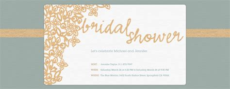 Yellow And Black Bridal Shower Evite bridal shower free online invitations