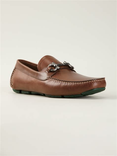 loafers ferragamo ferragamo loafers in brown for lyst