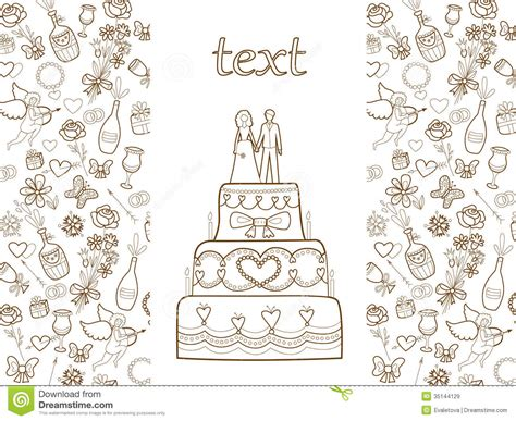 Wedding Card Pattern Stock Vector Image Of Greeting
