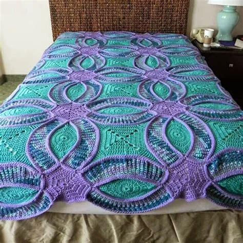 Crochet Quilt Pattern by Wedding Ring Crochet Quilt Free Pattern Beesdiy