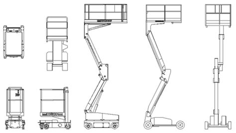 libreria le gru veicoli da lavoro gru mobili dwg