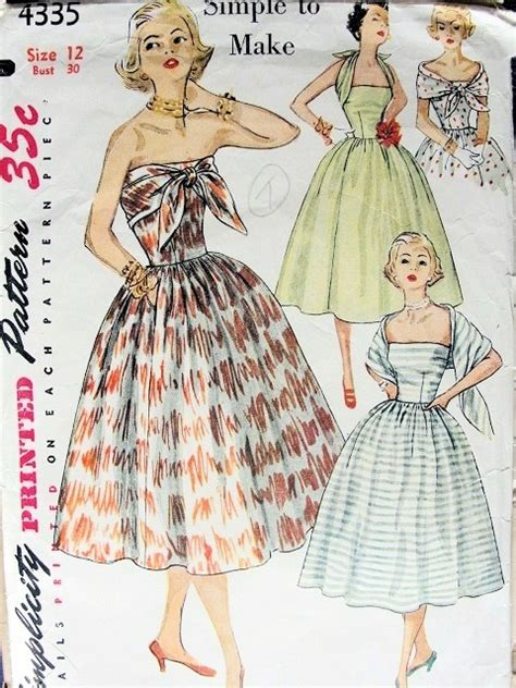 pattern engineering in fashion 1950s cocktail party dress pattern strapless attached