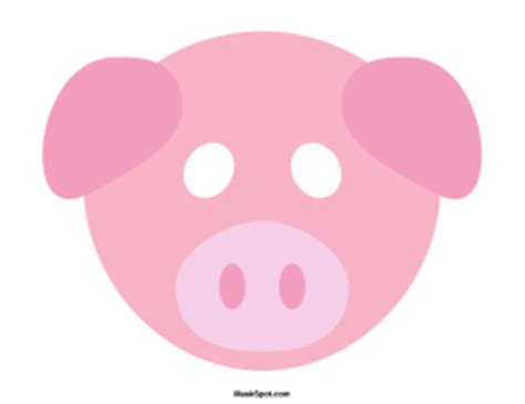 printable pig mask pig mask template there is also a coloring page version