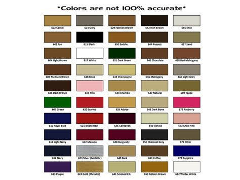 meltonian color chart color spray dye my shoe hospital