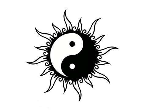 yin yang tribal tattoos tribal yin yang design