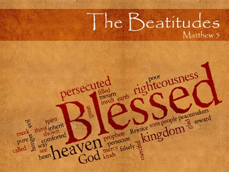 kingdom of happiness living the beatitudes in everyday books the beatitudes the conclusion part 1 of 2 let the