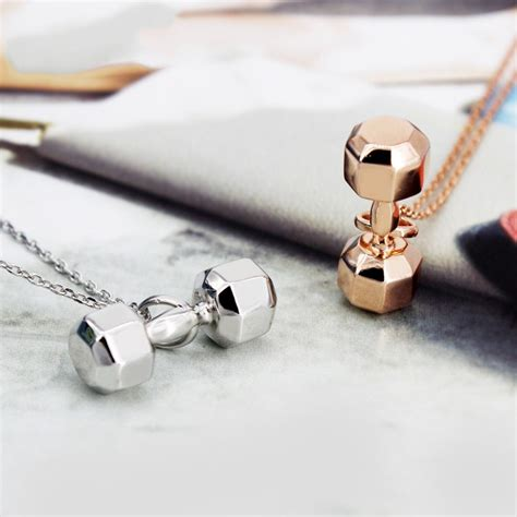 europe fitness dumbbell necklaces necklaces