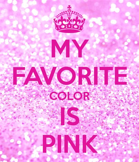 my favorite color is pink poster sara keep calm o matic