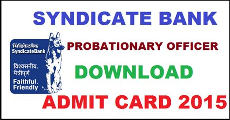 Syndicate Bank Letter Of Credit syndicate bank po call letter 2016 pgdbf admit card