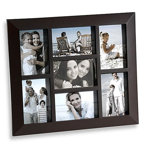 7 frame collage buy 7 opening collage frame in brown from bed bath beyond