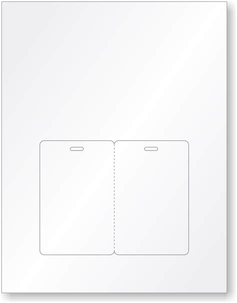 blank bi fold card template blank fold id cards stationery printable sheets