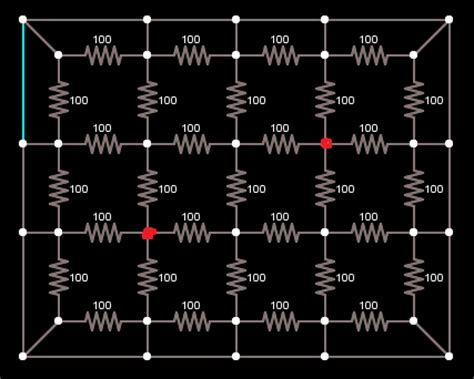 infinite resistor problems can the problem of finding the equivalent resistance between two points in an infinite grid of
