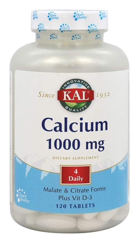 buy kal calcium 1000 mg 120 tablets at luckyvitamin com
