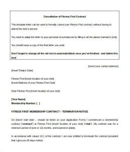 Planet Fitness Cancellation Form Pdf Template Business Fitness Contract Template